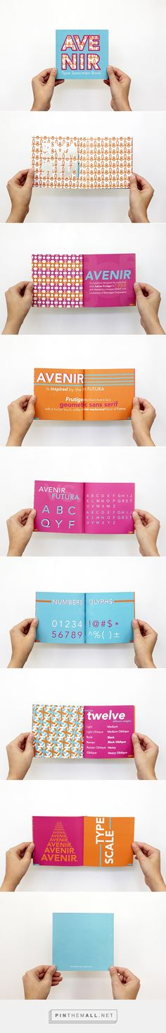 Avenir Type Specimen Book on Behance - created via https://pinthemall.net