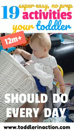 19 Super easy, no prep and fun toddler activities - practical life for and Make sure to include those practical life activities in your toddler's schedu Sensory Activities Toddlers, Infant Activities, Indoor Activities, 1 Year Old Schedule, Activities For One Year Olds, Daily Activities, Toys For 1 Year Old, 1 Year Old Snacks, Toddler Schedule