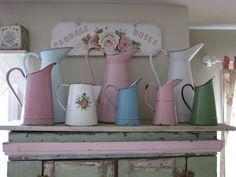 French enamel pitchers | by Maison Douce