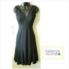 WHBM v-neck dress Built in bra cups, v-neck, low v-back White House Black Market Dresses