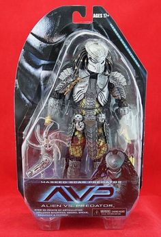 "NECA Masked Scar Predator 7"" Action Figure AVP Alien vs. Predator Series 14 New #NECA"
