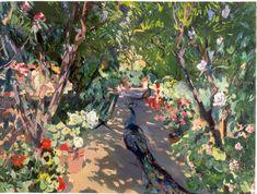 Joaquim Mir i Trinxet, Jardín de la casa del pintor