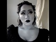 Detox Icunt inspired Grayscale Makeup Tutorial - YouTube