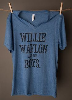 "We love Willie and them boys!! You can love em too in this cute tee! Unisex 3413/3415 Chest Size X-SMALL 31""-33"" SMALL 34""-37"" MEDIUM 38""-41"" LARGE 42""-45"" X-LARGE 46""-49"" 2X-LARGE 50""-53"" 3X-LARGE 54"