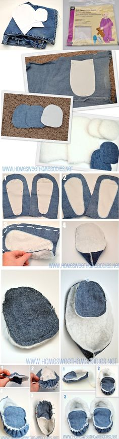Denim slippers (2)