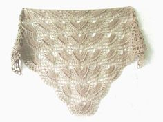 **Handmade crochet shawl i made for you with love and in a good mood. **Colour beige **Additional colors in stock. Knitted Shawls, Crochet Scarves, Crochet Shawl, Hand Crochet, Hand Knitting, Crochet Lace, Crochet Triangle, Wedding Shawl, Color Beige