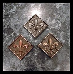Fleur de Lis Magnet Backsplash Tile by Carvist Lane Tile Inlay Free Shipping | eBay