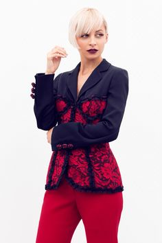 Nicole Richie Red Lace Outfit Sept 2015
