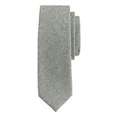 Extra-long Italian wool tie in medium grey