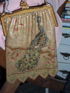vintage peacock purse