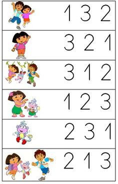 Dora and Diego math Math Activities For Kids, Kindergarten Math Worksheets, Math For Kids, Preschool Activities, Teaching Autistic Children, Teaching Kids, Kids Learning, Math Numbers, Kids Education
