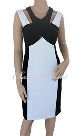 Joseph Ribkoff Black & Vanilla Dress Style 161009