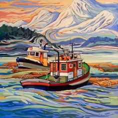 Past Work — Greta Grunow Guzek Landscape Art, Landscape Paintings, Seascape Paintings, Canadian Artists, Beach Art, Painting Inspiration, Art Pictures, Unique Art, New Art