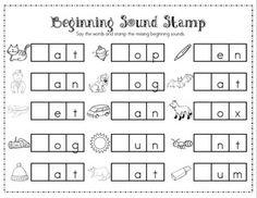 beginning sounds and middle sounds worksheets - Mrs. Ricca's Kindergarten: Literacy Center Freebie