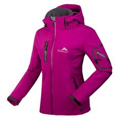 Women's 2016 Breathable Waterproof Softshell Outdoor Sports Jacket S-2XL 4 Colors