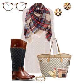 """""""Say Hello to Winter White"""" by prepstepkate on Polyvore featuring 'S MaxMara, Tiffany & Co., Tory Burch, Louis Vuitton, Bobbi Brown Cosmetics and J.Crew"""