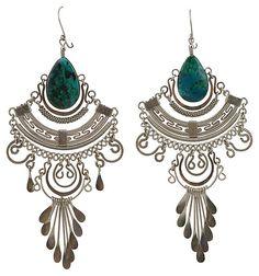 Peruvian Turquoise Earrings | Stylist Secrets | One Kings Lane