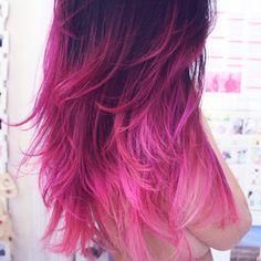 Cheveux Colorés Roses