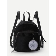 To find out about the Pom Pom Decorated Velvet Backpack at SHEIN, part of our latest Backpack ready to shop online today! Canvas Backpack, Mini Backpack, Backpack Bags, Fashion Backpack, Ladies Backpack, Backpack Outfit, Small Backpack, Kanken Backpack, Velvet Color