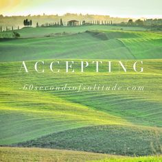 Today's mindfulness meditation word is accepting. Listen to 60 Seconds of…