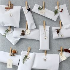Six ideas for stylish advent calendars, from easy DIY projects to advent candles. Minimal Christmas, Nordic Christmas, Noel Christmas, Winter Christmas, All Things Christmas, Christmas Crafts, Christmas Decorations, Xmas, Christmas Morning