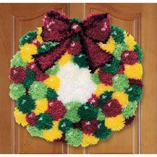 Gumdrops Wreath Latch Hook Kit - Herrschners
