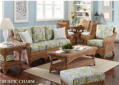 Page 5 Rattan Sunroom Furniture Wicker Living Room Sofa Table