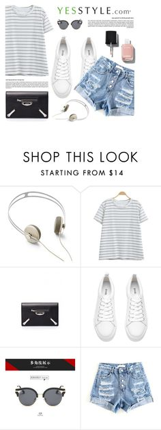 """""""YESSTYLE.com"""" by monmondefou ❤ liked on Polyvore featuring AIAIAI, Balenciaga, AORON and Chanel"""