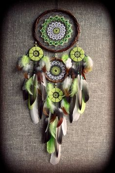 Cute Crafts, Crafts To Do, Diy Craft Projects, Arts And Crafts, Dream Catcher Decor, Dream Catchers, Bohemian Style Home, Boho, Crochet Dreamcatcher