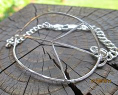 Big Piece of Peace  Bangle meets Bracelet. by kimhunt on Etsy, $68.00