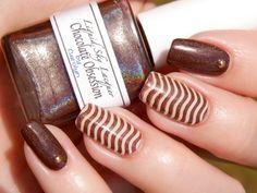 Liquid Sky Lacquer Chocolate Obsession & OPI You're So Vain-illa