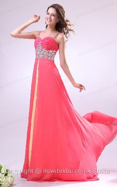 Alluring Spaghetti Straps Sweetheart Two-tone Prom Dress With Ablaze