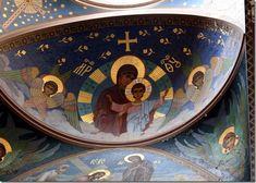 Theotokos mural icon at New Athos Monastery