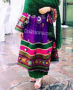#afghan #purple #green #national #dress