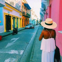 Colors. @_sylph3 // Cartagena Colombia. #travelnoire #cartagena #SouthAmericaTravelOutfit