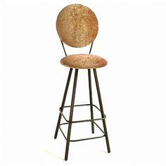 """Grace 30"""" Swivel Bar Stool Upholstery: Cimarron Levante, Base Finish: Burnished Copper"""