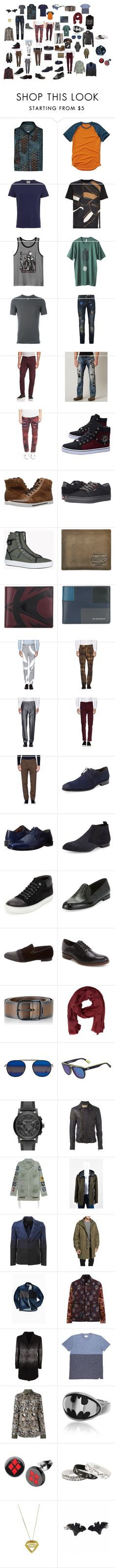 """""""y30"""" by dieselformas ❤ liked on Polyvore featuring Salvatore Ferragamo, Hollister Co., Oliver Spencer, Wooyoungmi, JEM, Kavu, Label Under Construction, Topman, rag & bone and Affliction"""