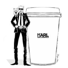 KARL CAPPUCCINO by Megan Hess