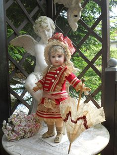 ~~~ Very Beautiful French Bisque Bebe by Jumeau with Superb Costume from whendreamscometrue on Ruby Lane