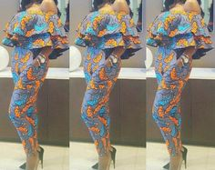 Stones Embellished african print one piece by ElpiscreationsNG
