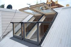 Open your world with Velux!!! The innovative balcony adds air, light and a great view to your home.  Distributed by Casco Industries, Inc.