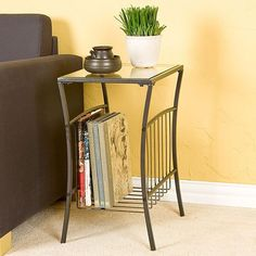 Upton Home Keller Steel Magazine Table | Overstock.com Shopping - The Best Deals on Coffee, Sofa & End Tables