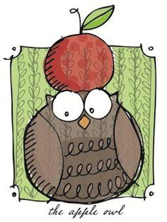 'The Apple Owl' by Lisa Orgler