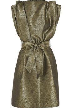Vivienne Westwood Anglomania Metallic jacquard dress   THE OUTNET