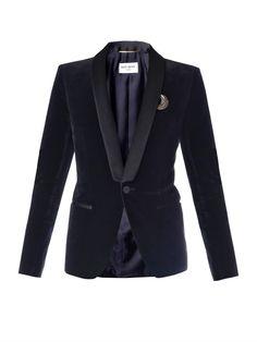 Saint Laurent Bohème velvet tuxedo jacket