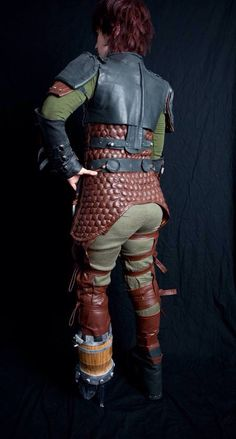 My replica of Hiccup's flight suit from HTTY2 from the back. The under armour is all hand quilted and hand stuffed.