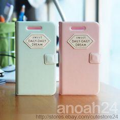Daily Dream Pastel/HAPPYMORI Korean flip diary type cute case cover for iPhone 5