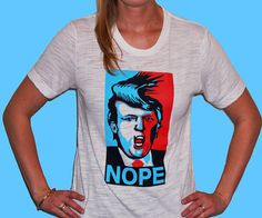 Donald Trump  Nope Shirt by ChumpPresident on Etsy