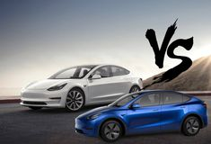 When we compare Tesla Model 3 vs model Y, we find that Model Y is an enlarged and roomy version of Model 3 . She looks a lot like a little brother. New Tesla, Volvo S60, Vs Models, Car In The World, Sporty Look, Cruise, Brother, Touch, Accessories