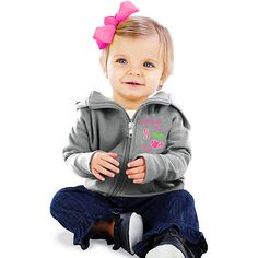Seattle #Mariners Infant Girl's Zip Hood by Soft as a Grape $24.99